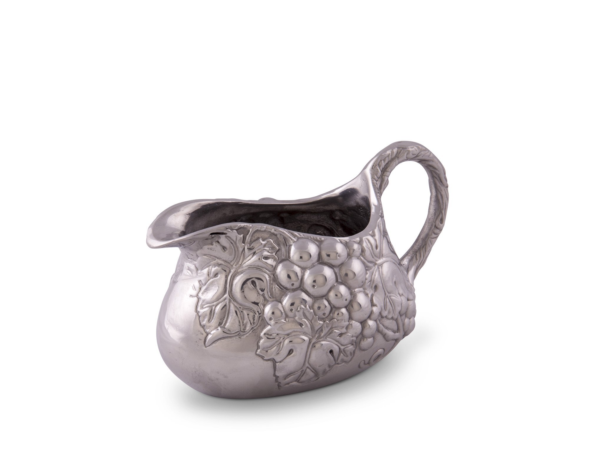 Arthur Court Designs Aluminum Grape Gravy Boat 7.5'' by 5.5''