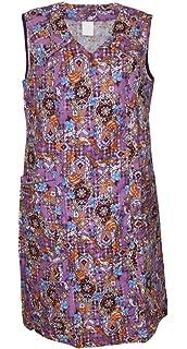 Reißverschluss Kittel Schürze Hauskleid Baumwolle 40