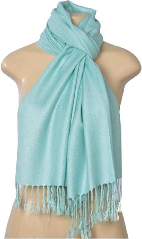SEAFOAM AQUA PASHMINA Shawl 100/% Viscose NEW Luxurious Soft