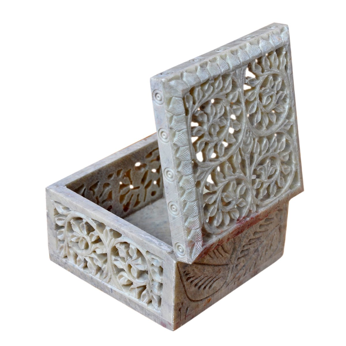 Hashcart Indian Artisan, Handmade & Handcrafted Stone Jewelry Box/Jewelry Storage Organizer/Trinket Jewelry Box/Gift Box with Traditional Design by Hashcart (Image #4)