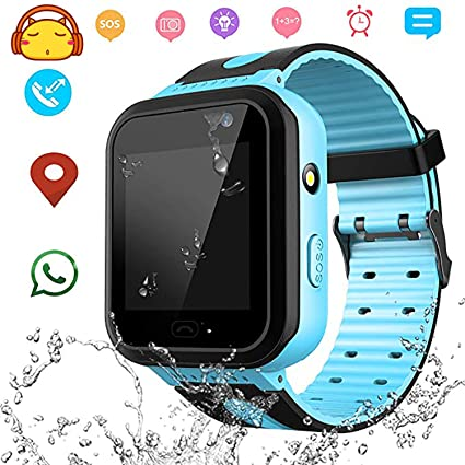 Kids Smart Watch GPS LBS Tracker Child Watch Phone Digital Wrist Watch SOS Alarm Clock Camera Flashlight Phone Watch for Children Age 3-12 Boys Girls ...