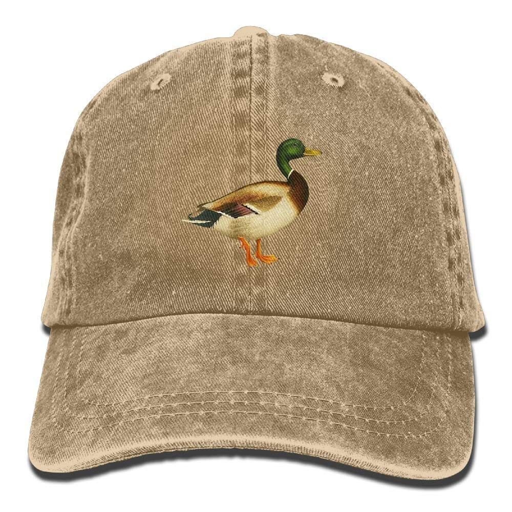 Teens Mallard Duck Adult Cowboy Summer Baseball Cap Fish Travel Hats Ausy