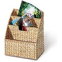 Revistero, cesta para revistas, 3 compartimentos, 300 x