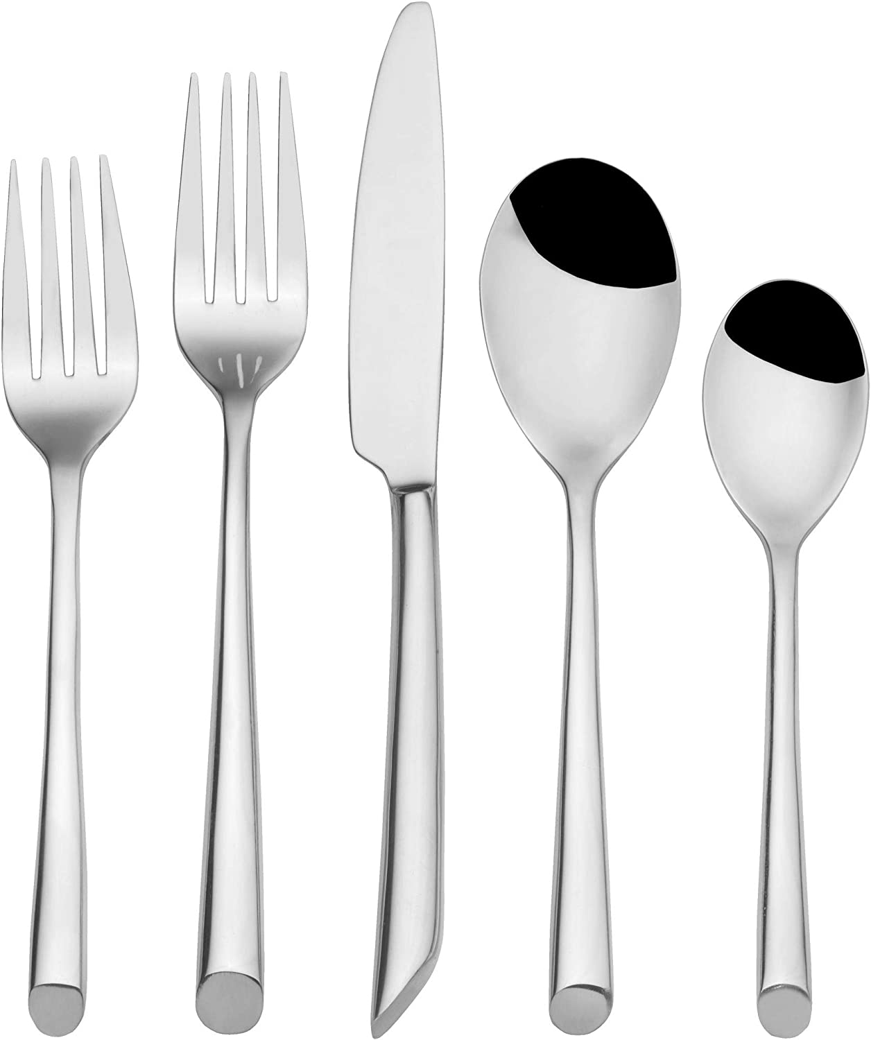 Towle Living Wave 42-Piece Forged Stainless Steel Flatware Set, Service for 8