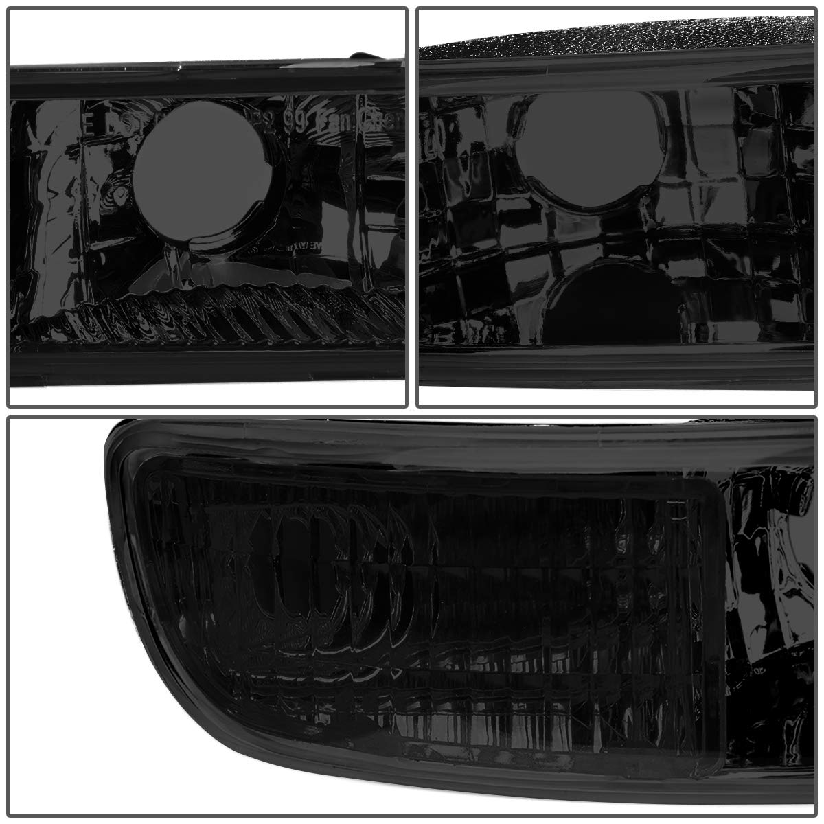 DNA Motoring HL-LB2-SIERRA99-SM-CL1 LED DRL Front Driving Headlight+Turn Signal Bumper Lamps Upgrade