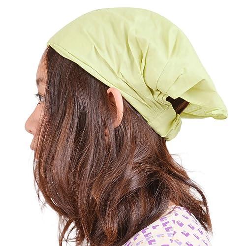 Casualbox mujer algodón bandana bufanda cabello banda cabeza tapa elástico