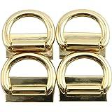 JCBIZ 4pcs Suspension Clasp for Purses Handbags Zinc Alloy Die Casting Handbag Hardware Accessories Gold