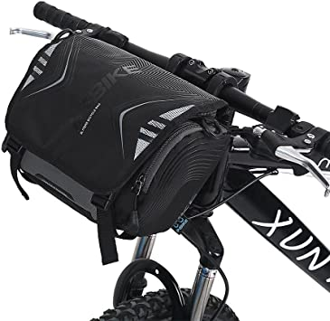 Dioche Bicicleta Bolsa para Manillar, Impermeable Alforjas Bolsa ...