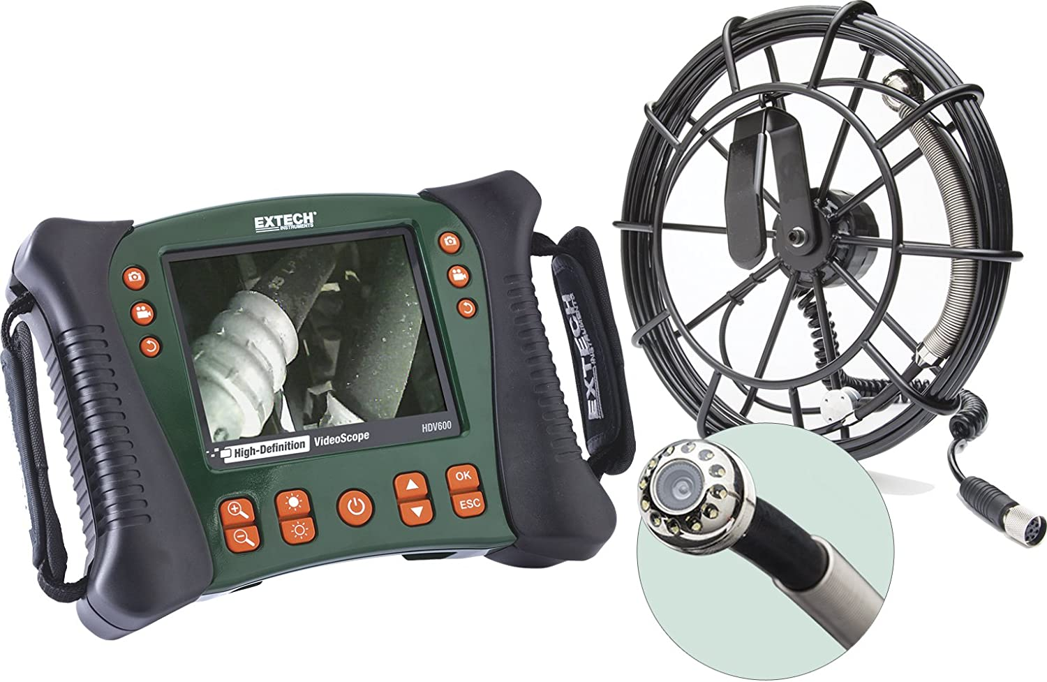 Extech HDV610 High Definition VideoScope with 5.5mm Camera and Meter Flexible Cable
