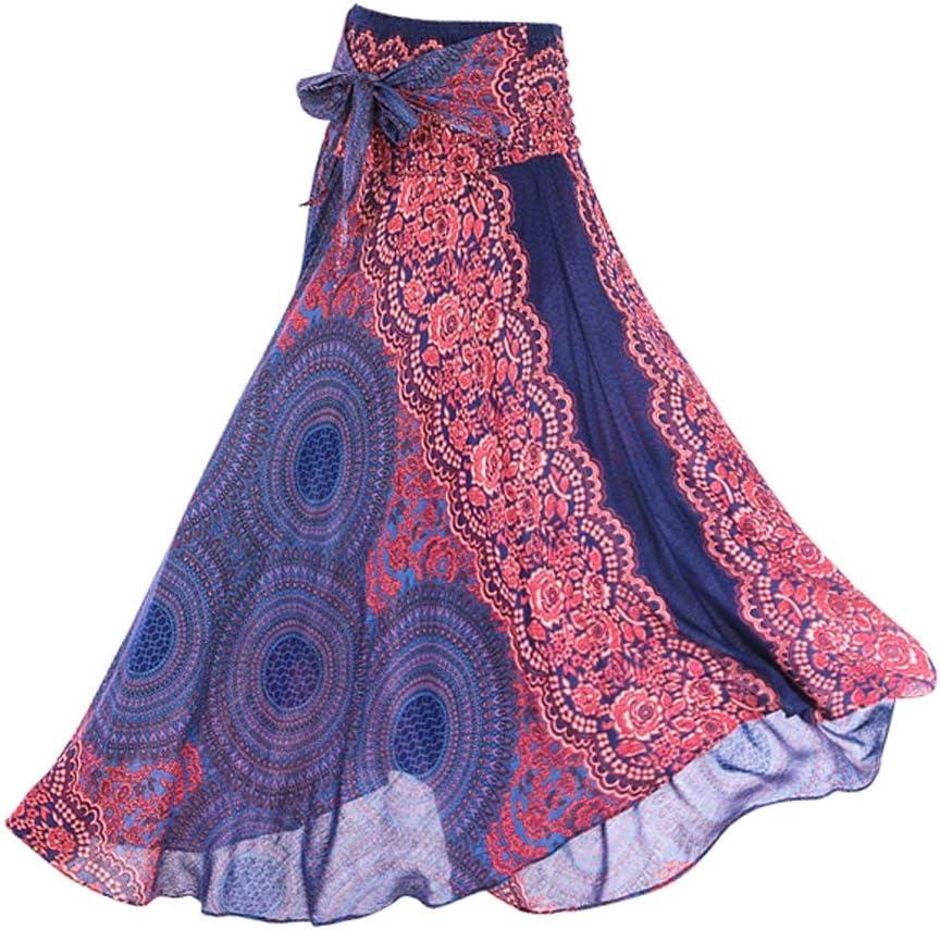 Backbayia - Falda de Danza Latina Larga para Mujer, clásica, Belly ...