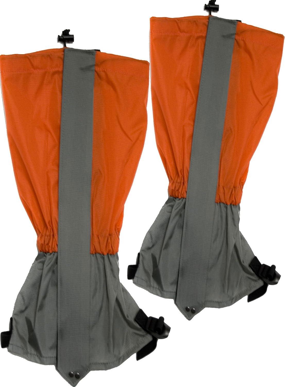 Outdoor Saxx® - Paar Gamaschen   Unigröße wasserdicht strapazierfähig   für Wandern, Ski, Gestrüpp Stiefel-Schutz Wasser-abweisend   2er Set, orange