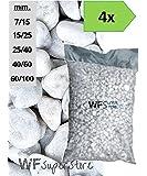Ciottoli di marmo Bianco Carrara - 4 sacchi da 25 kg - sassi pietre giardino (40/60)
