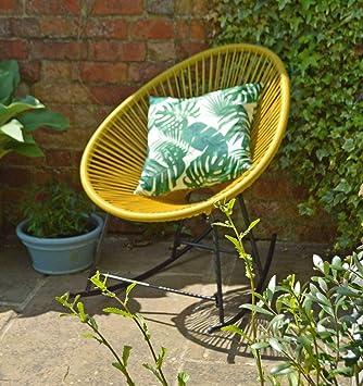Superb Sue Ryder Yellow Rocking String Moon Chair Garden Furniture Inzonedesignstudio Interior Chair Design Inzonedesignstudiocom