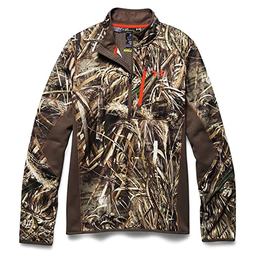 5aa0ebd0a9929 Under Armour Scent Control Armourfleece 1/4 Zip Top - Men's Realtree Max 5 /