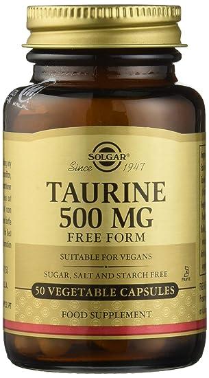 Solgar Taurina Cápsulas vegetales de 500 mg - Envase de 50