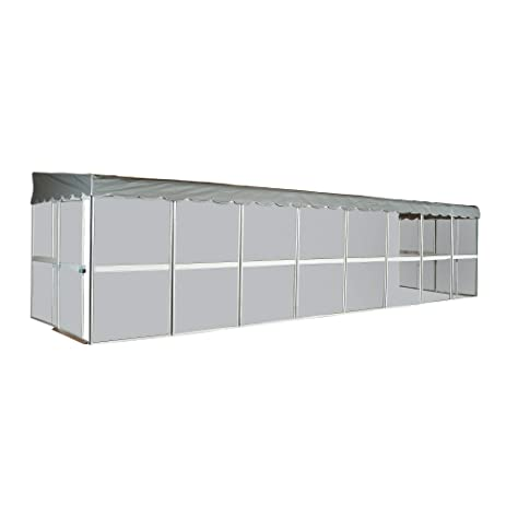 Patio Mate 12 Panel Screen Enclosure 29122, White With Gray Roof
