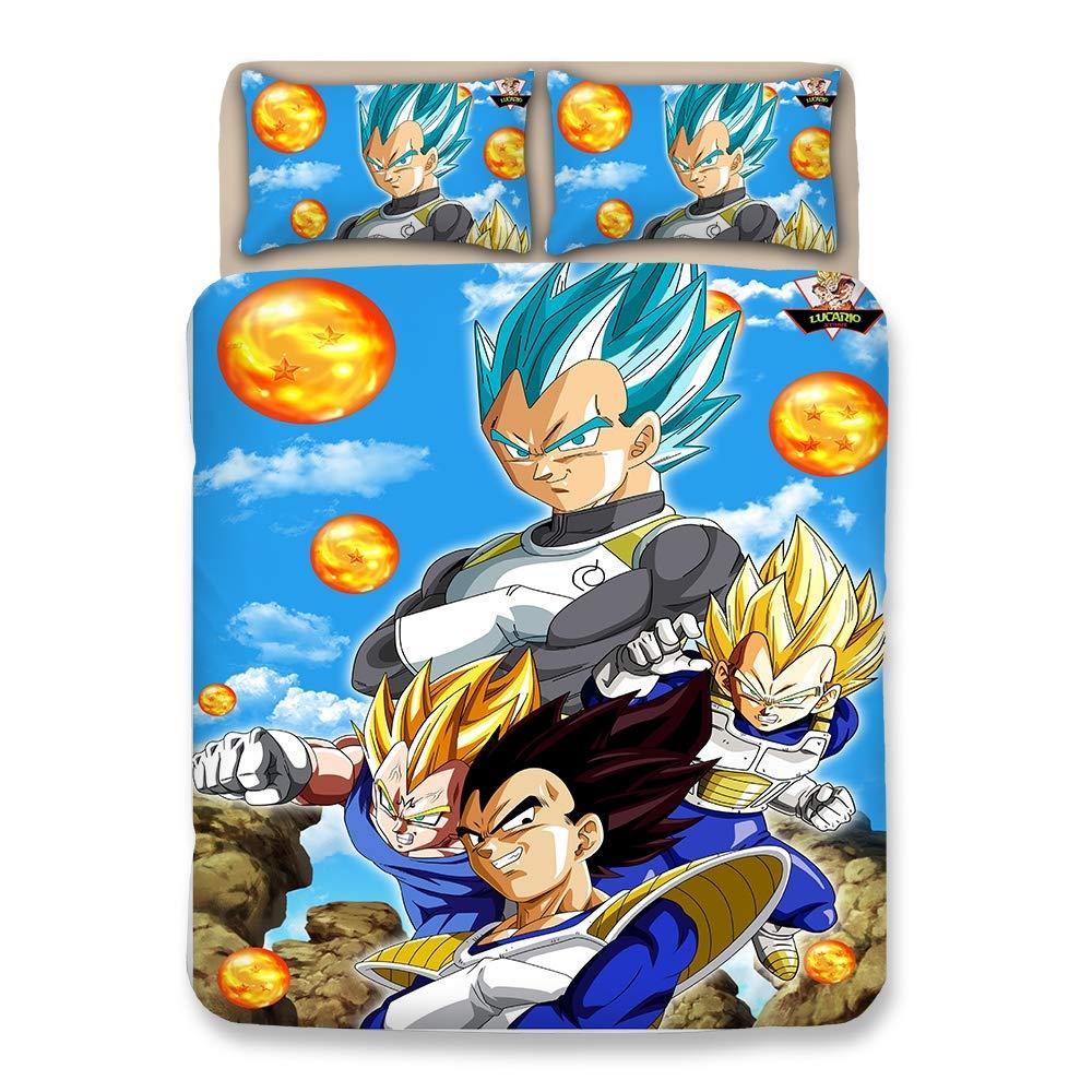 Bulk 4 Personas Dragonball Z Goku Juego de Funda nórdica/Lecho ...