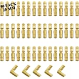 50-Pack Brass Concealed Hinge DIY Jewelry Box Furniture Hand Craft GoldenHidden Hinge (0.98x0.2 (25x5mm))