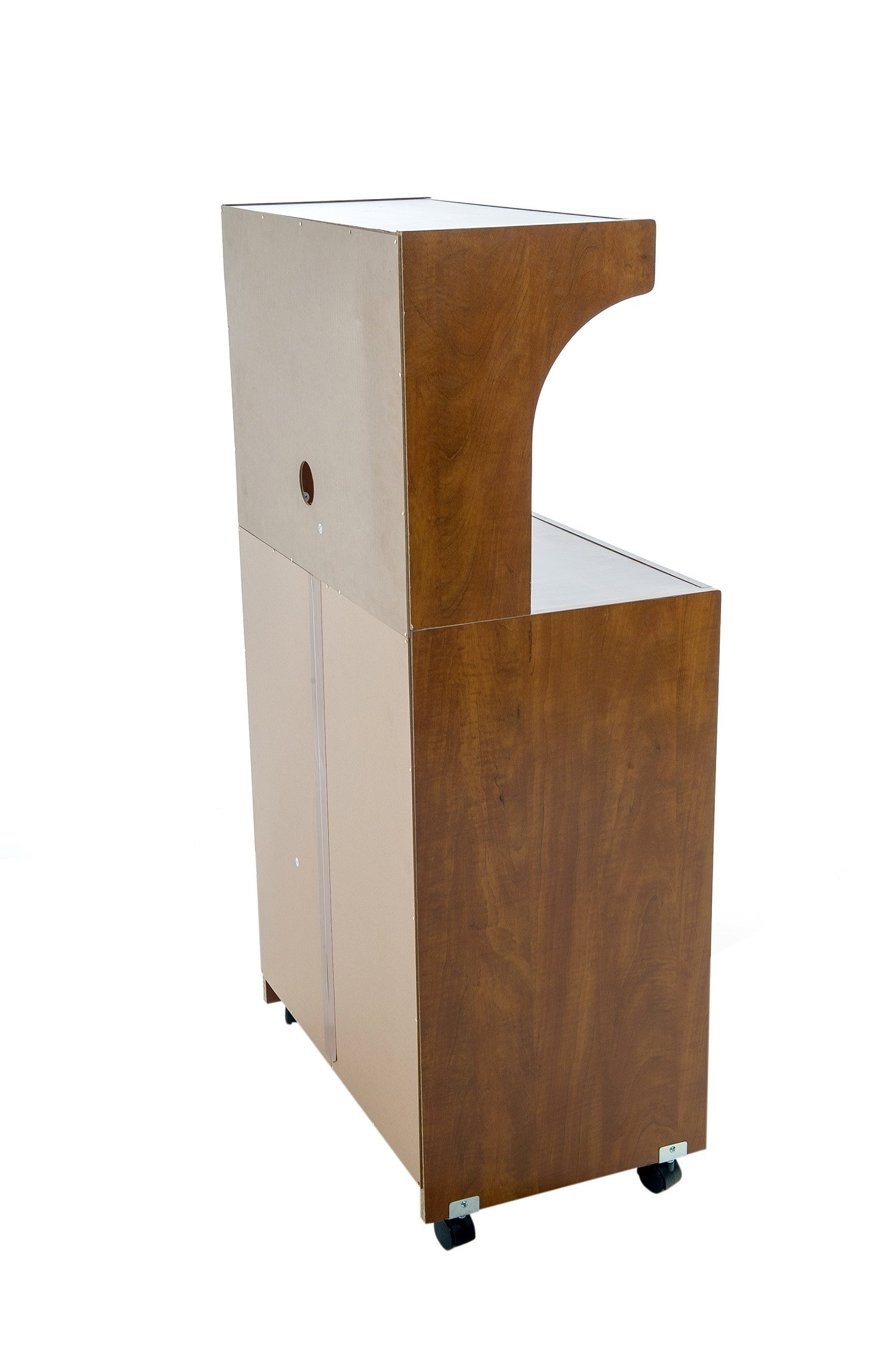 Home Source Industries Kevin Oak Microwave Cart, Light Walnut
