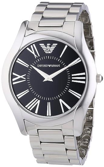 Emporio Armani AR2022 - Reloj analógico de cuarzo para hombre con correa de acero inoxidable, color plateado: Emporio Armani: Amazon.es: Relojes
