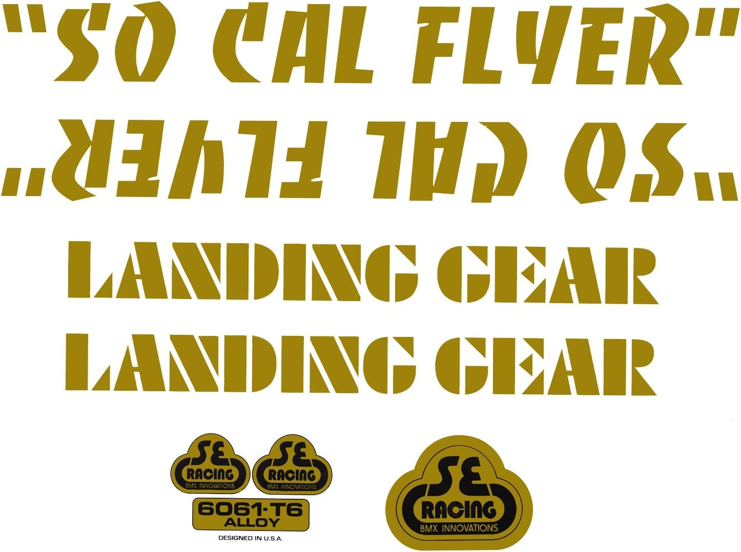 SE BIKES SO CAL FLYER BLACK STICKERS DECAL SET