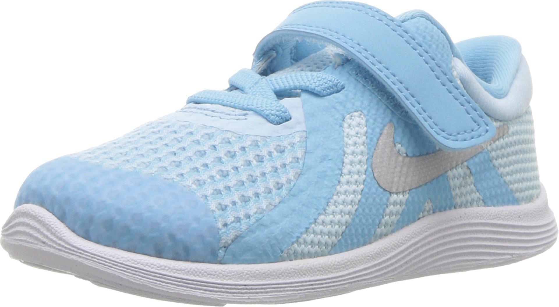Nike Toddler Revolution 4 (TDV) Cobalt Tint Mtllc Silver Blue Size 8