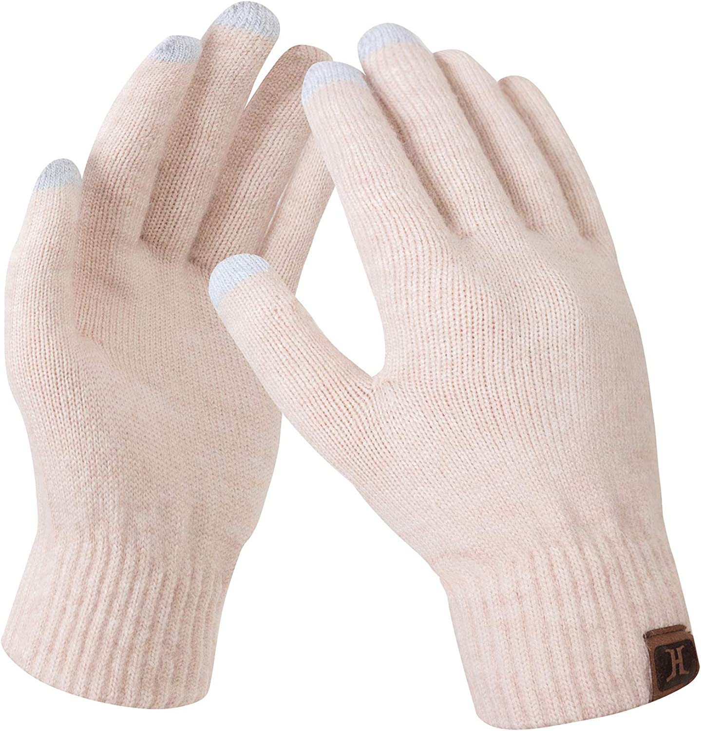 Women Touch Screen Winter Gloves Fleece Thick Warm Comfy Soft Fur Lined Thermal