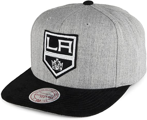 Mitchell /& Ness NHL Los Angeles Kings 2 Tone Arch Gris Casquette Réglable