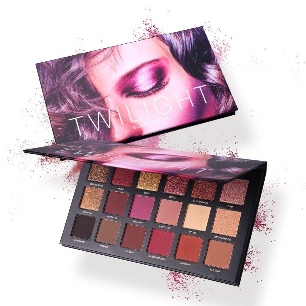 Eyeshadow Palette, Shouhengda Matte Eyeshadow Palette & Glitter Eyeshadow 18 Colors Combination Smoky with Shimmer Eyeshadow Twilight & Dusk Makeup Palette Cosmetics by Shouhengda (Image #5)