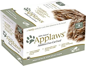 Applaws Fish Selection Multipack Wet Cat Food, 2.12 oz., Count of 8