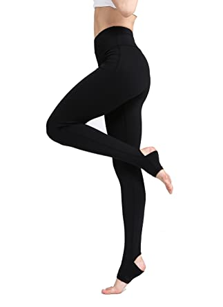 8e19a0e7bc4de Pure Color Mesh Yoga Leggings for Women with The Heel Fixed Long High  Stretch Active Stirrup