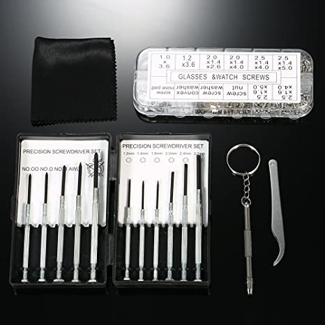 Amazon com: 1113 Pieces Eyeglasses Repair Kit Small Screws Nose Pads