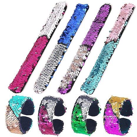 8 pulseras de sirena de Kekai, 2 colores, lentejuelas ...