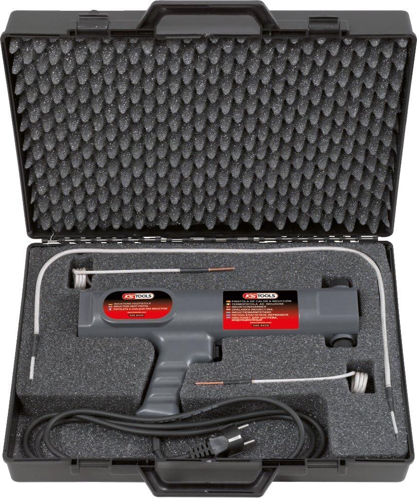 KS Tools 500.8420 Juego de pistolas calentadoras de inducción, 4 pzs.