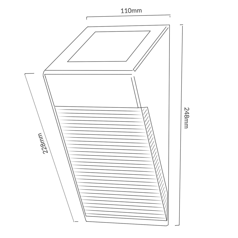 Maclean Energy MCE Lámpara Solar LED Sensor de movimiento PIR jardín terraza IP65 sensor crepuscular ahorro de energía iluminación: Amazon.es: Electrónica