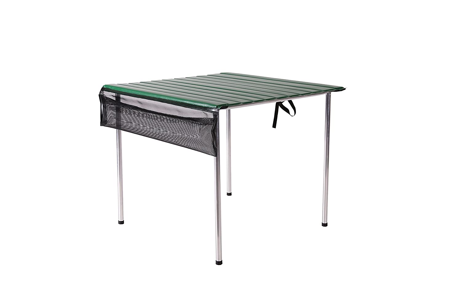 USA Made /… Green Roll-a-Table Portable Compact Camp Time Fold Up Roll Out Table Top