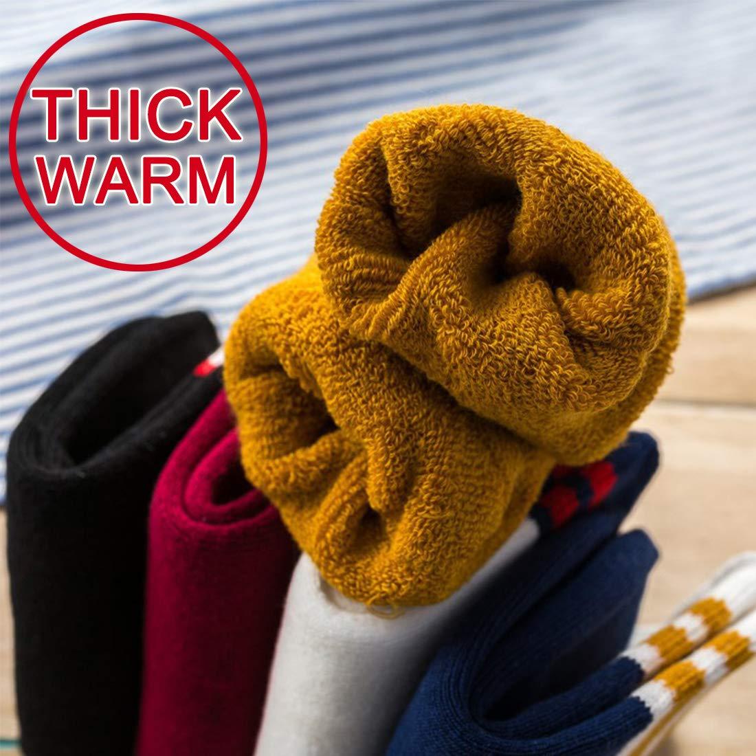 Cotone Naturale Spesso Caldo e Confortevole LORYLOLY 5 Paia di Calzini per Bambini 1-12 Anni Calzini Termici Invernali per Ragazza Ragazzo Bambino unisex per Quotidiano Natale Scuola