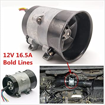 12 V 16,5 A coche eléctrico turbina cargador de Turbo marrón Boost toma de aire ventilador turbina Turbo ventilador Bold líneas 35000 rpm: Amazon.es: Coche ...