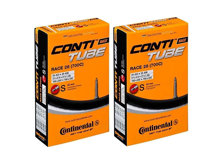 "Presta Valve Continental RACE Bike Inner Tubes 28/"" Wheels 700x20-700x25"