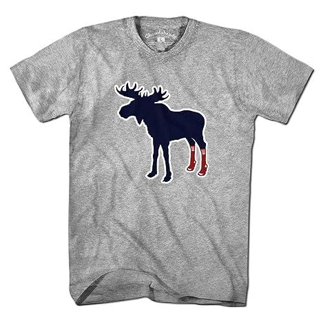 4f619bbaef6e3f Amazon.com : Chowdaheadz Sox On Moose Socks Boston Fan T-Shirt ...