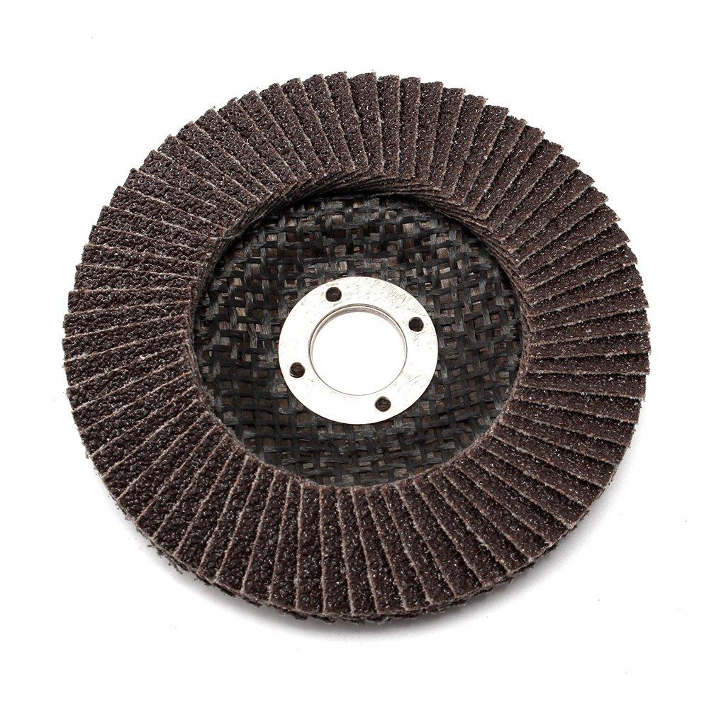 10Pack 4 inch Premium High Density Calcined Aluminum Oxide Flap Disc 80 Grit