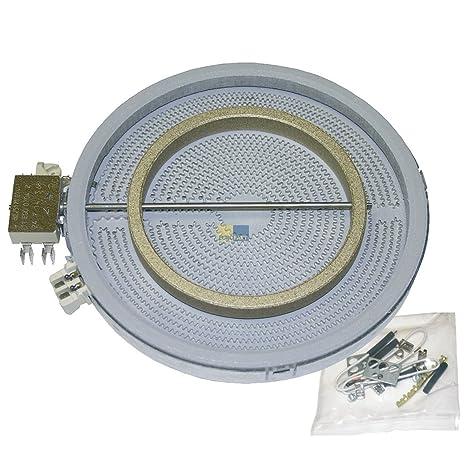 Dos circular Hilight de Radiador Zona Vidrio y cerámica EGO ...