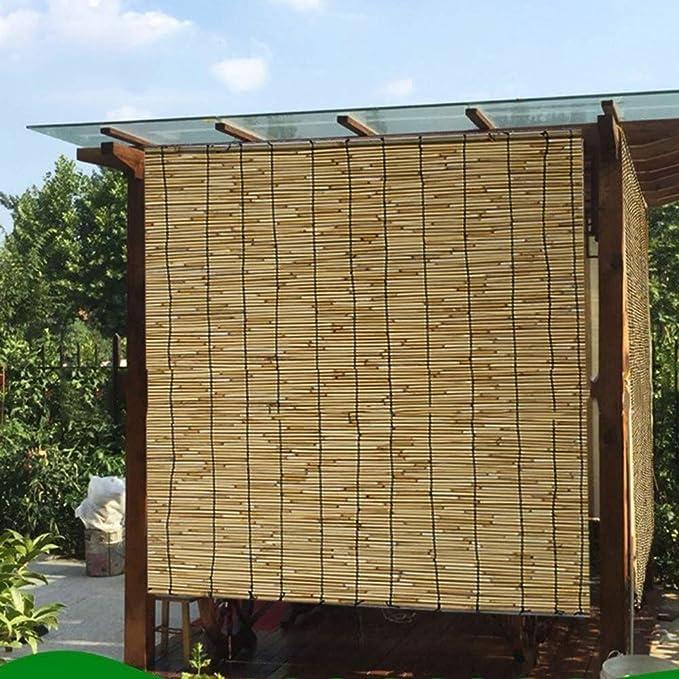 Cortinas enrollables Cortinas de láminas de bambú, Persianas de ...