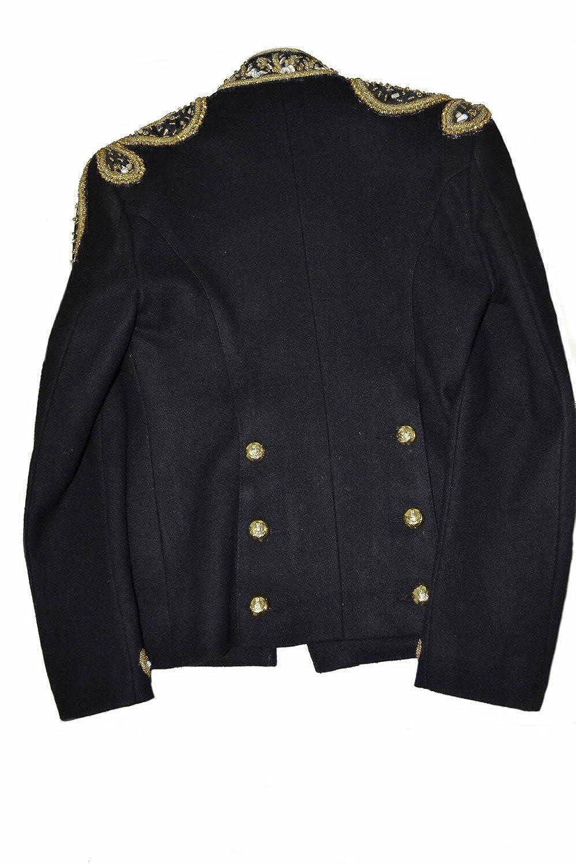 4df6afa1faf2d Classyak Women Military Style Wedding Jacket Suit - All Gold Beads at  Amazon Women's Coats Shop