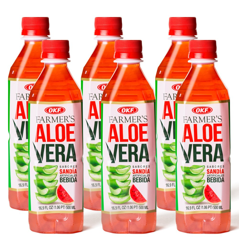OKF Aloe Vera Watermelon Drink, 16.9 Ounce (10 Pack)