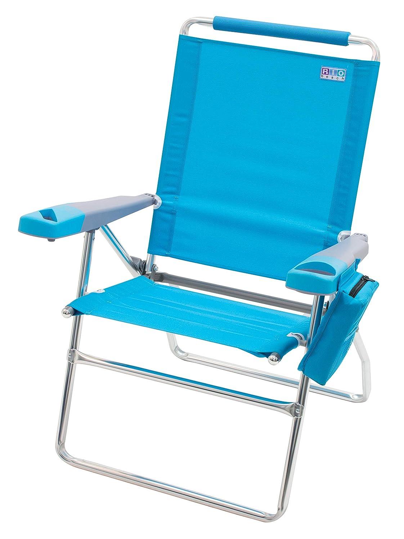 Rio Beach 17 Extended Height 4 Position Folding Beach Chair – Teal