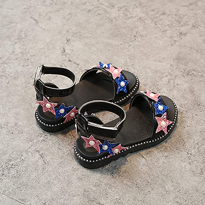 Moonker Girls Children Mary Jane Flats Princess Shoes for 4-12 Years Old Teen Kid Cartoon Heart Bowknot Zip Single Shoes