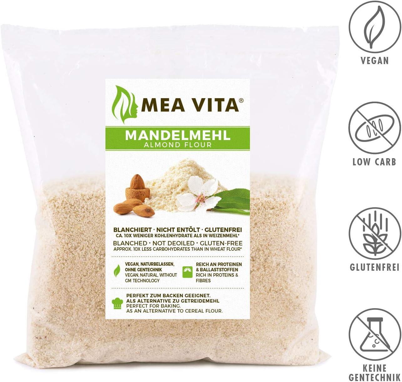 Harina de almendras MeaVita, natural, escaldada, 1 envase (1 x ...