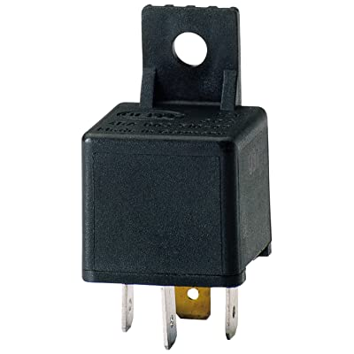 HELLA 003510087 30 Amp 12V Mini SPST Relay with Bracket: Automotive