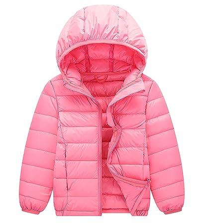 fc69bb04fdd3 Happy Cherry Baby Girls Down Coats Lightweight Outwear Winter Hooded ...